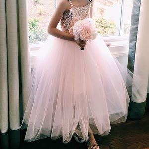 Other - dress in rose gold sequins and pink tulle